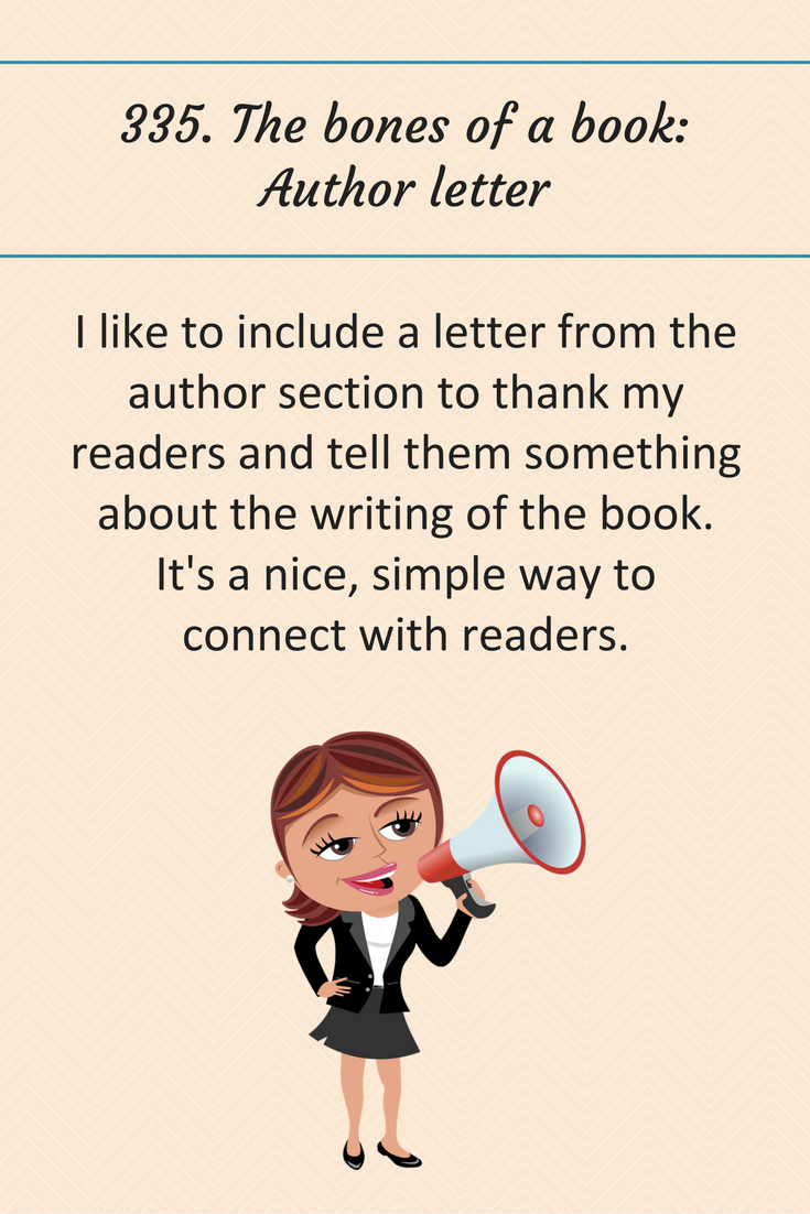 The Bones Of A Book Author Letter Writingtips Amwriting
