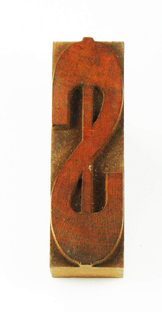 Antique Printmaker Block for Stamping designs - Large Dollar Sign ...