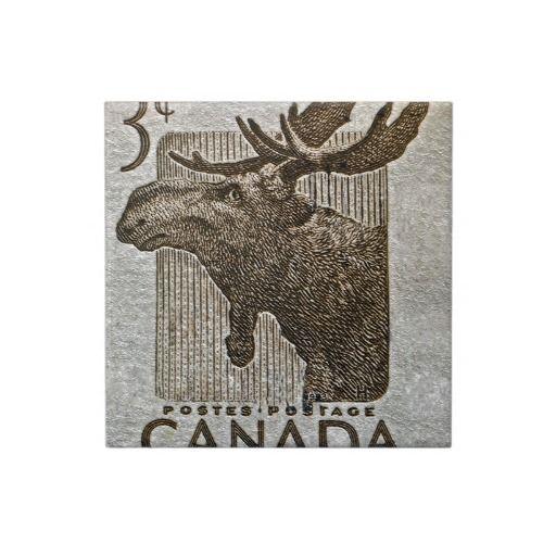 1953 Canada Moose Stamp Ceramic Tile ~ SOLD! #Canada #stamp #ceramic ...