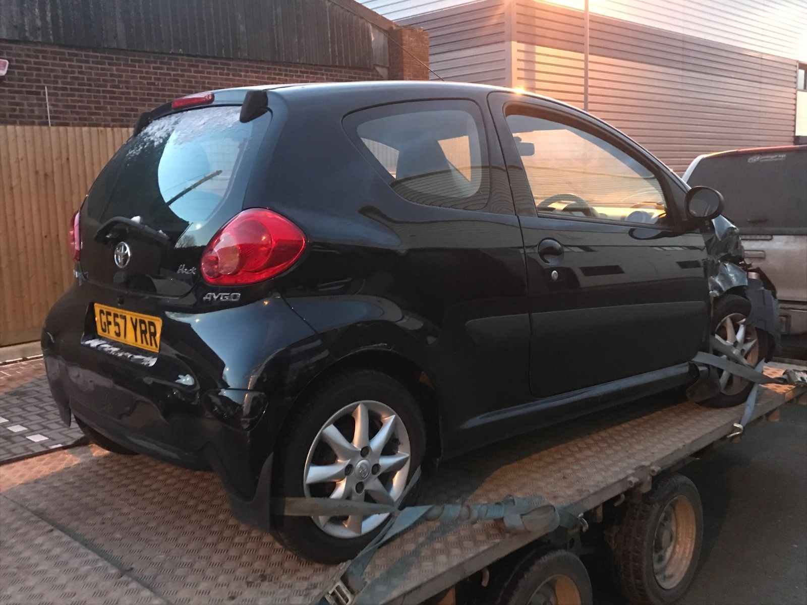 2007 57 Toyota Aygo Black 99k miles - Selling as Unrecorded Salvage ...