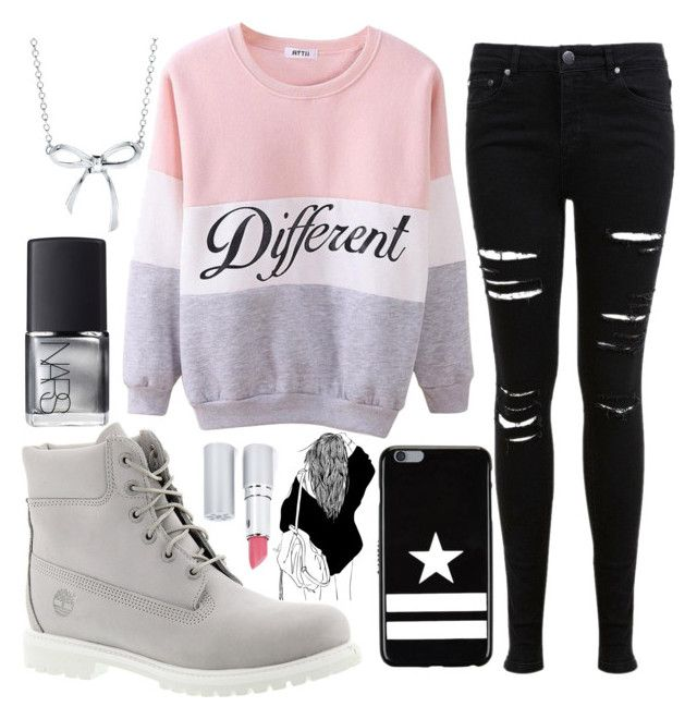 """""""Sweather Weather"""" by kaix-tumblrx ❤ liked on Polyvore featuring Timberland, Miss Selfridge, Tiffany & Co., Givenchy, NARS Cosmetics, HoneyBee Gardens, StreetStyle, sweather and sweatherweather"""