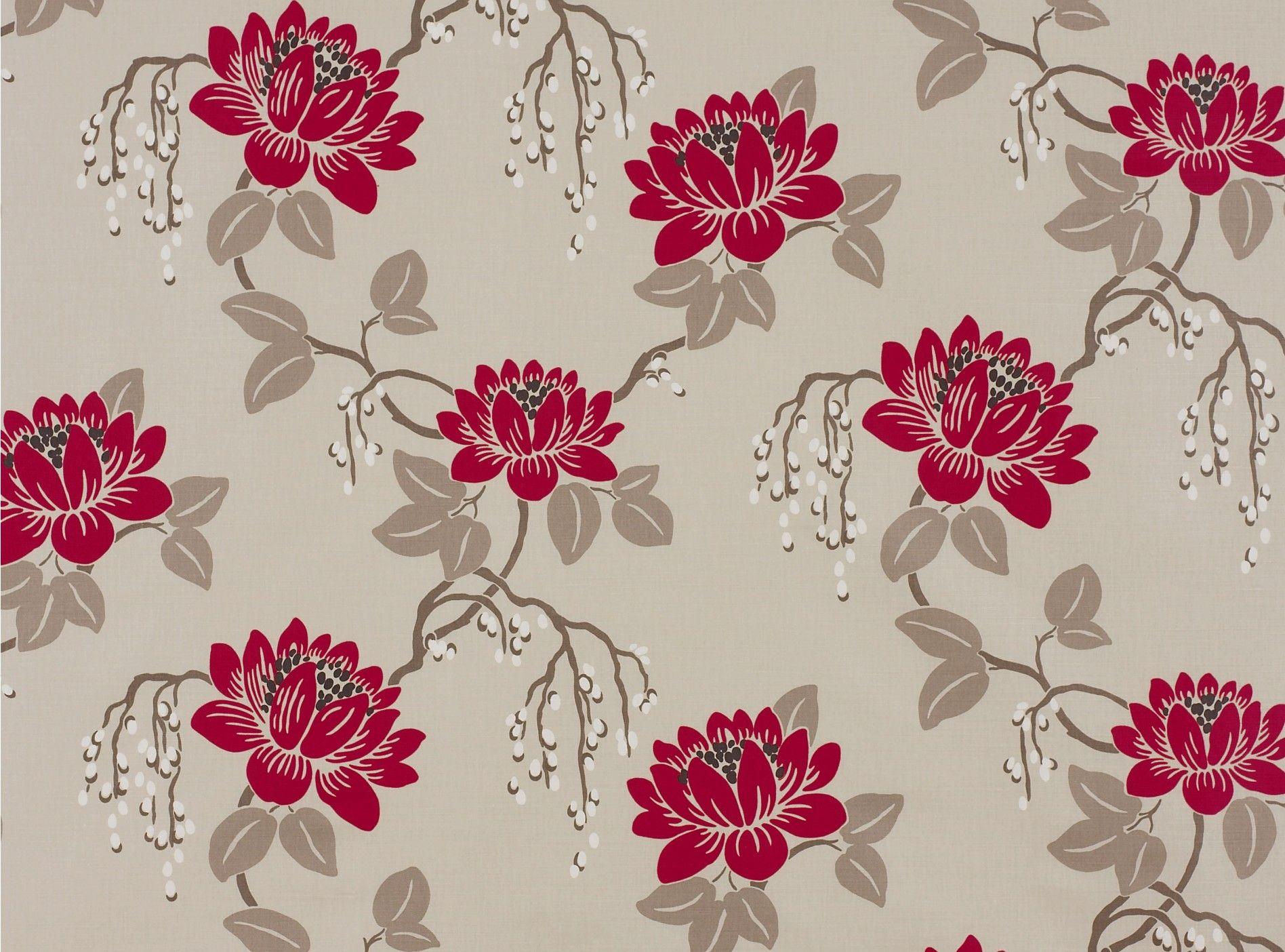 Romo Kimura Lacquer Red fabric