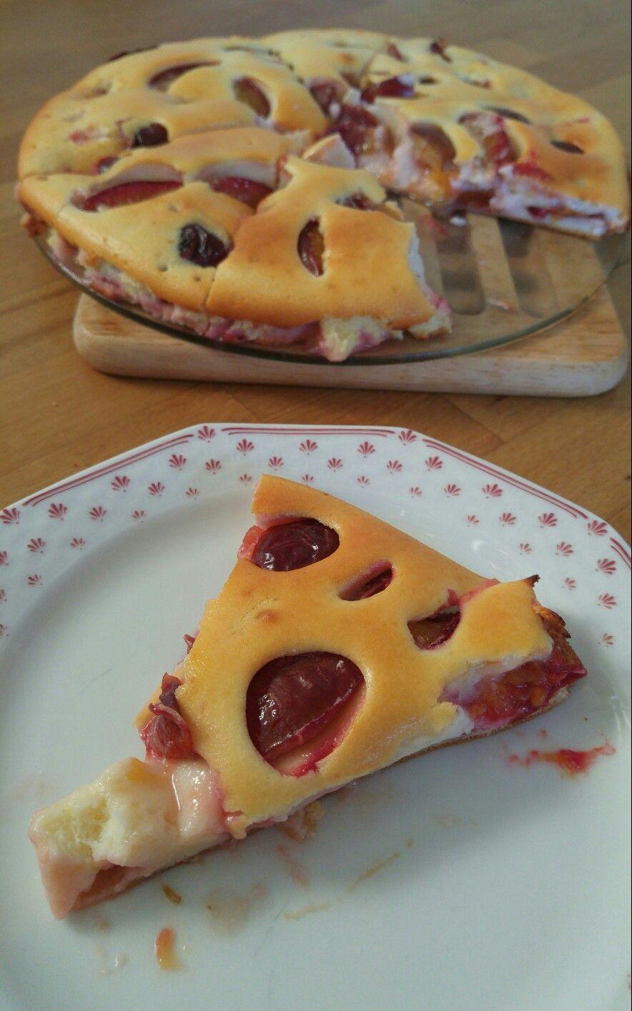 Nachgebacken: Französischer Pflaumenkuchen von EatSmarter: Sehr saftig und einfach zubereitet! Und dazu *gesund* ;)