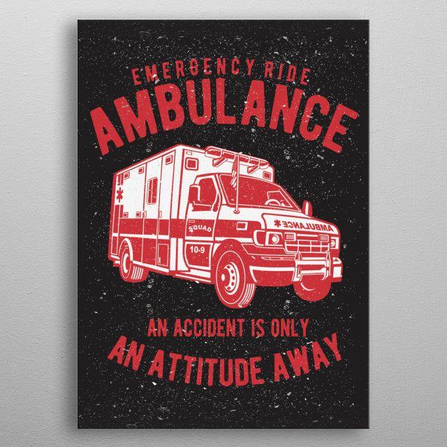 Emergency Ride by Dedi Iskandar | metal posters - Displate | Displate thumbnail