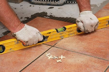 How To Lay Tile Over Concrete Doityourself Home Is Where The