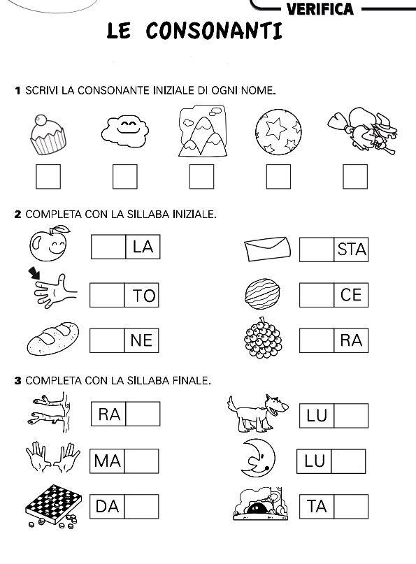 Consonanti lettoscrittura consonantes fonologia e for Problemi di primo grado a due incognite esercizi