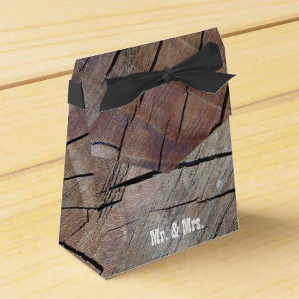 Rustic Wood Grain Design Mr Mrs Favor Box Craft Supplies Diy