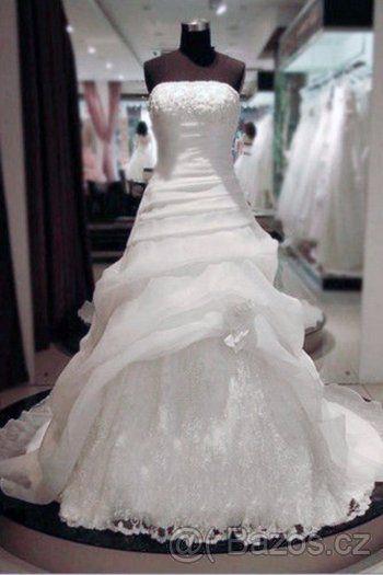 Krásné bílé nové sv.šaty 46 - 1  08abe2bf970