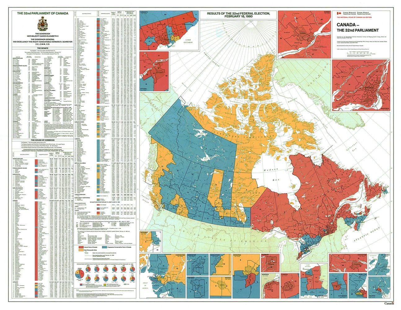 One of the most prominent examples of Canada's East-West divide. The Canada Election Map on