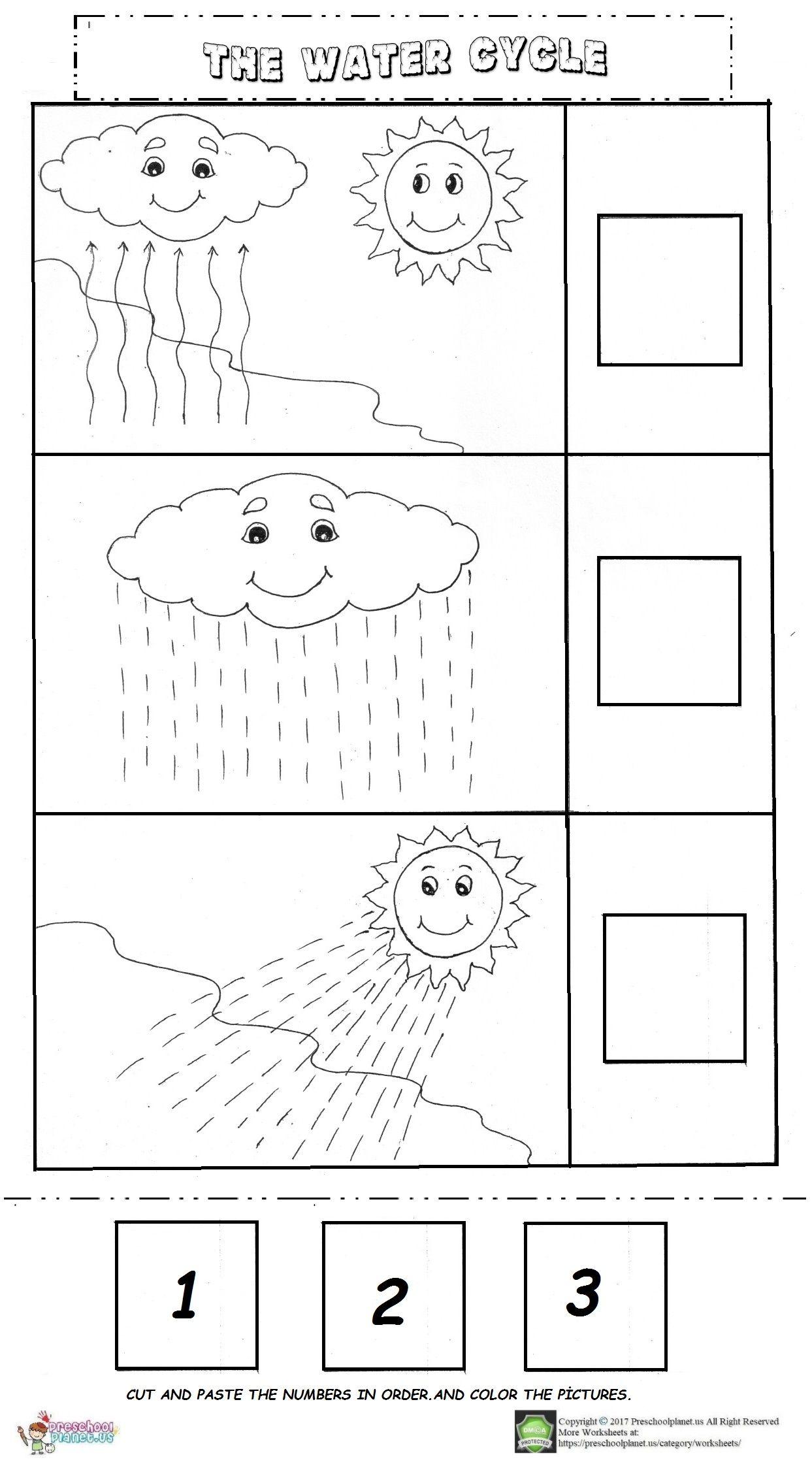 The water cycle worksheet | Worksheet for kids | Water cycle ...