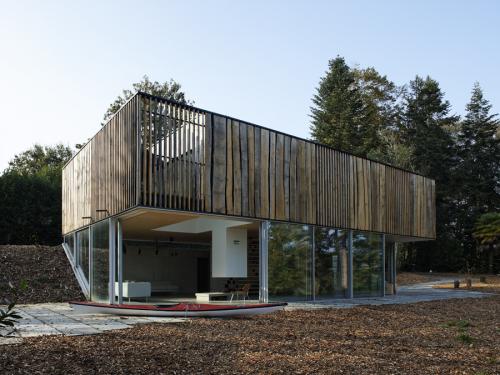 Minimalist Rectangular House With Duality Concept Idea