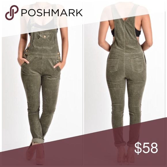 2e21ae2bc87 🆕Olive Corduroy Overalls W Side Buttons   Pockets 🎉New Arrivals Plus  Sizes Also Available🎉 Sizes come in Small