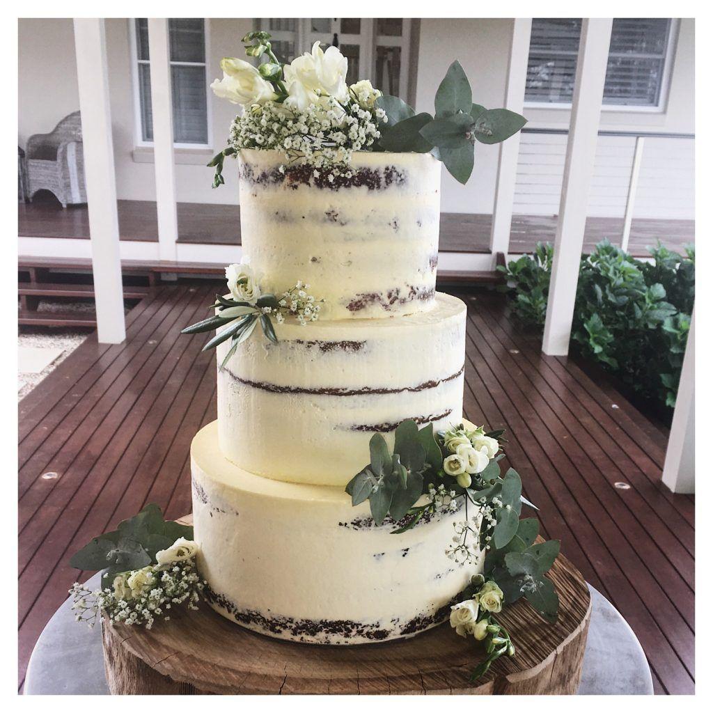 3 Tier Semi Naked Wedding Cake