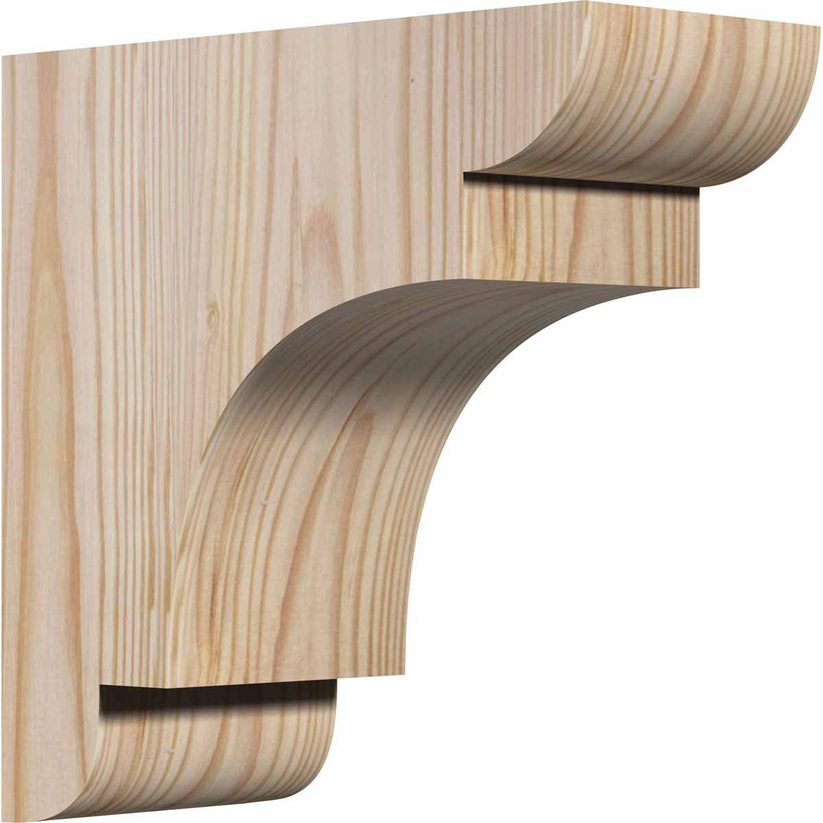 Ekena Millwork CORNEB00 New Brighton Rustic Timber Wood Corbel CORRCORNEB00 - ArchitecturalDepot.com