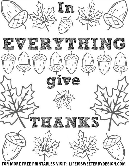 Free Printable Thanksgiving Coloring Pages Free Thanksgiving