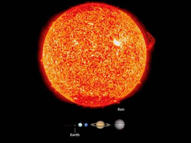 SPACE EARTH SUN  DIGITAL  ART WALL LARGE IMAGE GIANT POSTER !!
