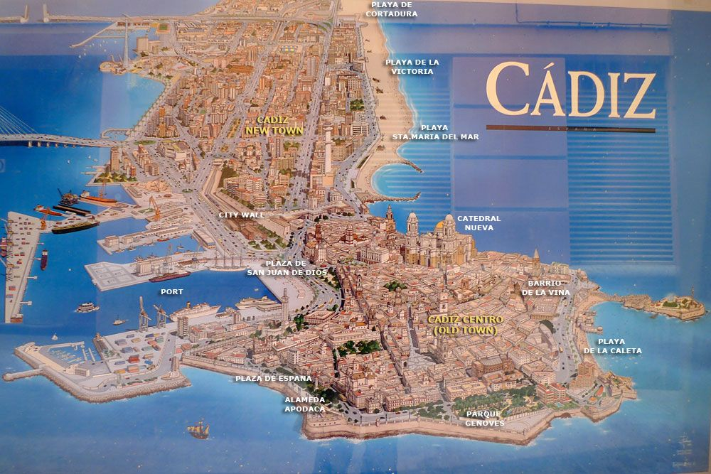 Cadiz 3D Map Andalusia Spain Places to Visit Pinterest
