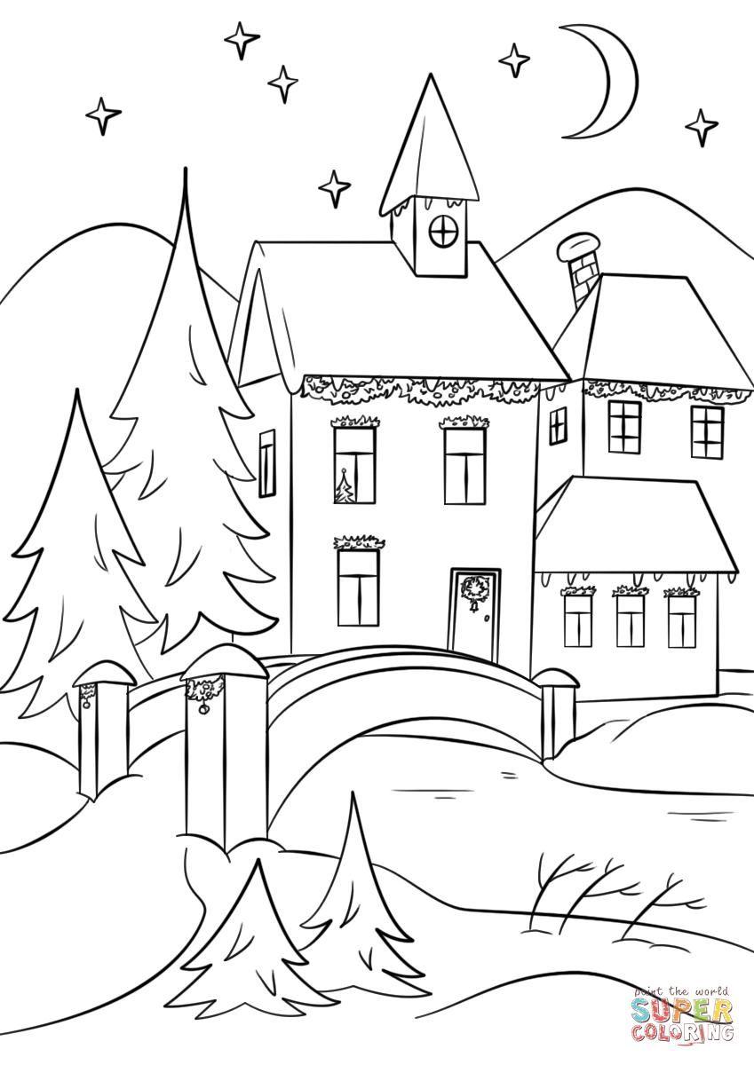 51 Coloring Page Village Book Illustration Art Free Printable Coloring Pages Coloring Pages