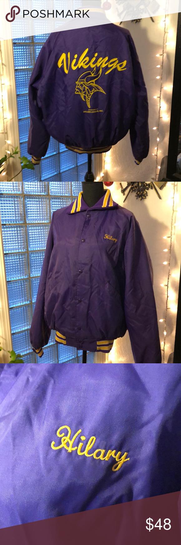 Vintage Minnesota Vikings Jacket Jackets Jackets For Women Clothes Design [ 1740 x 580 Pixel ]