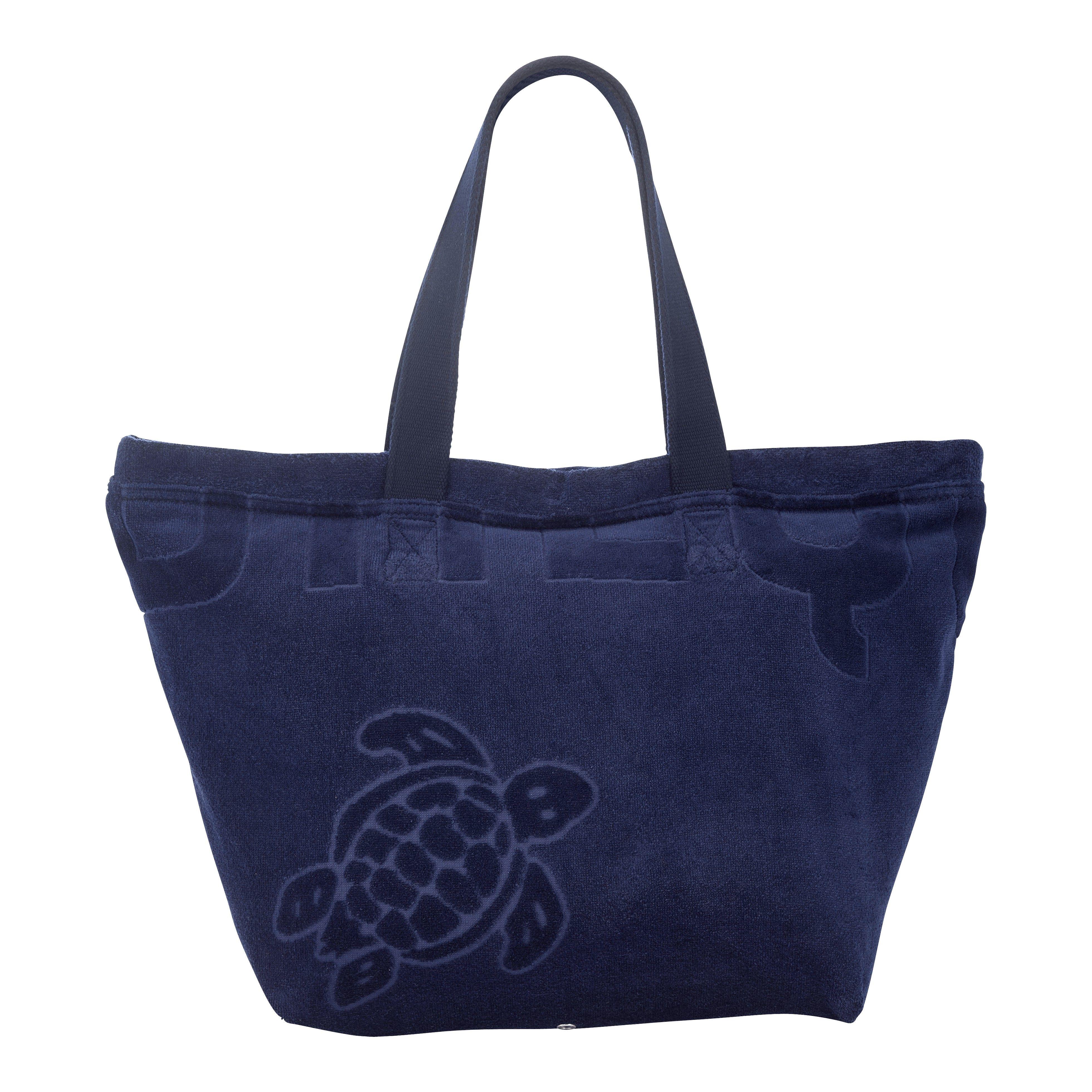 Terry Beach Bag VILEBREQUIN, Barney - Jacquard Uni Blue Vilebrequin