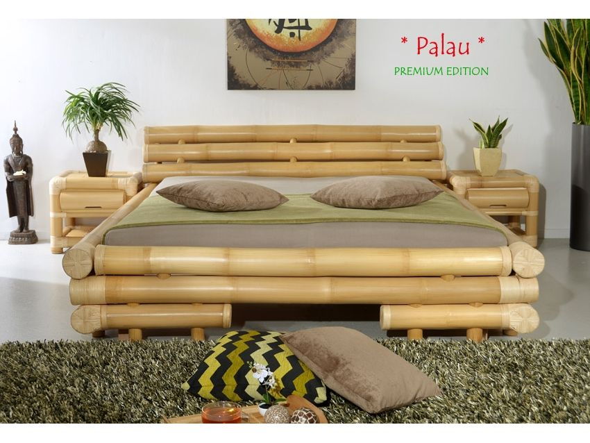 Palau Bambusbett Premium Edition Bamboo Bedding Bamboo House Design Bamboo Furniture
