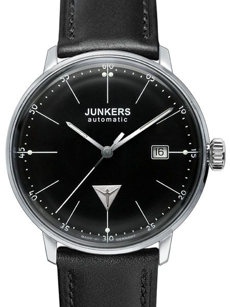 8541e363f Junkers Bauhaus Swiss Automatic Watch with Domed Hesalite Crystal ...
