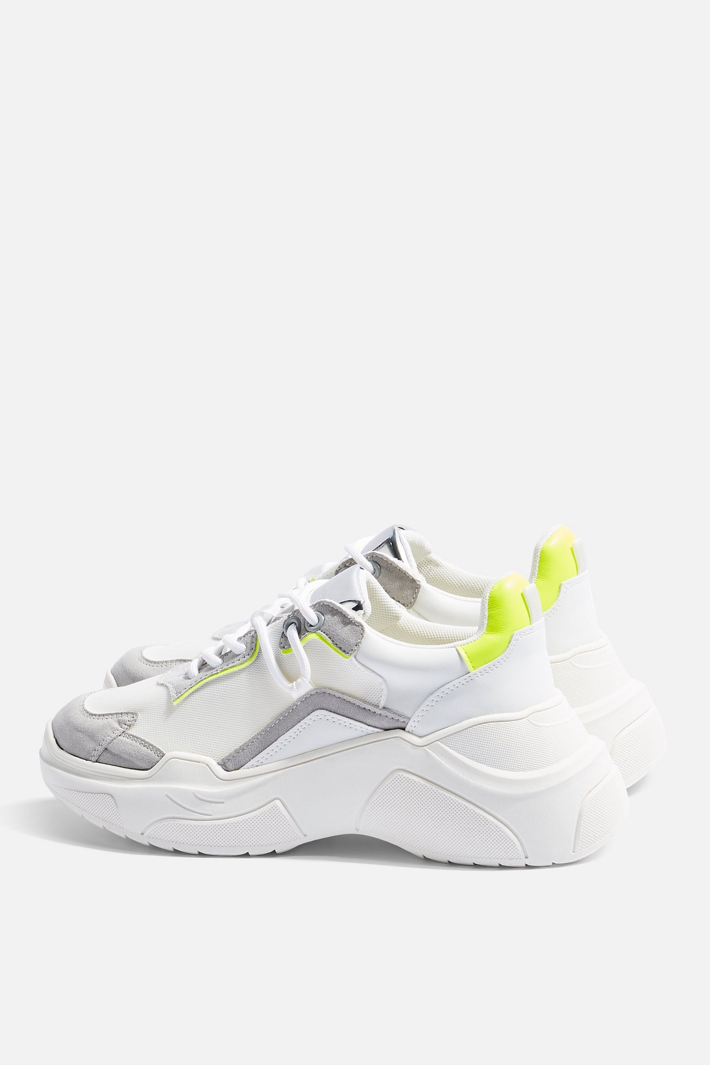 CHERRY Yellow Chunky Trainers   Topshop