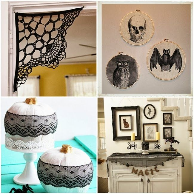 More Shabby Chic Halloween Interior Decor Ideas: 12 Elegant DIY Halloween Decor Ideas