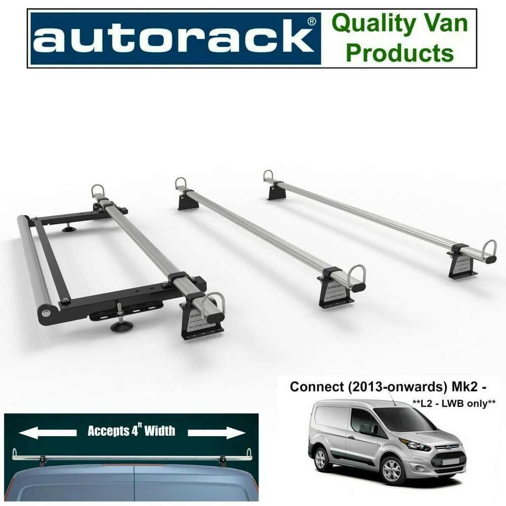Ford Transit Connect Mk2 L2 Lwb Workready Van Roof Rack 3 Bars