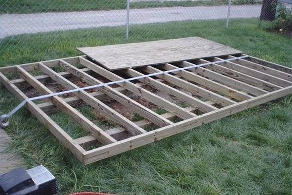 How To Build A Shed Hunker Building A Shed Base Shed Floor Insulating A Shed