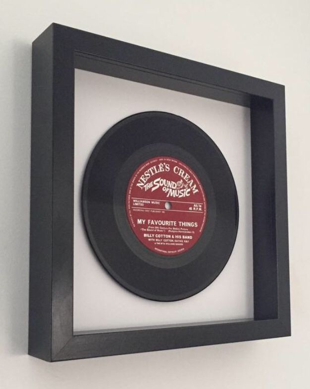 The Sound Of Music My Favourite Things Framed Vinyl Record Framed Records Vinyl Records Box Frames
