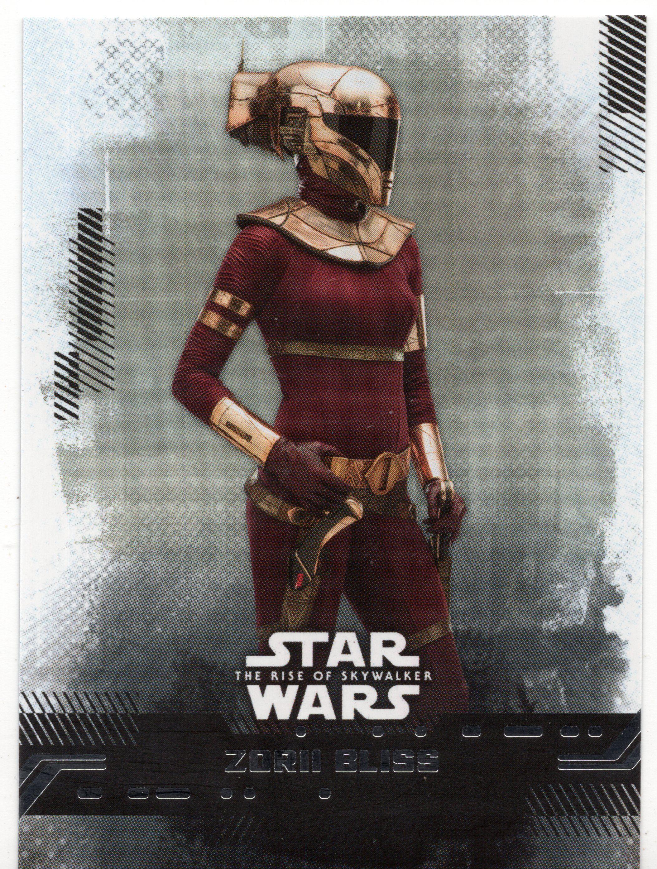 2019 Star Wars Rise Of Skywalker Series 1 8 Zorii Bliss Sw105 In 2020 Star Wars Women Star Wars War
