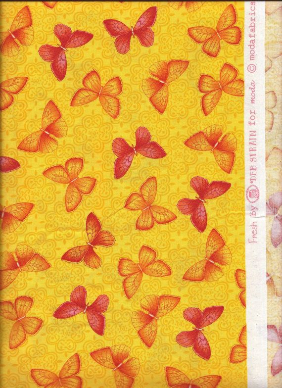 45'' Wide Moda Fresh Butterflies Damask Yellow Fabric