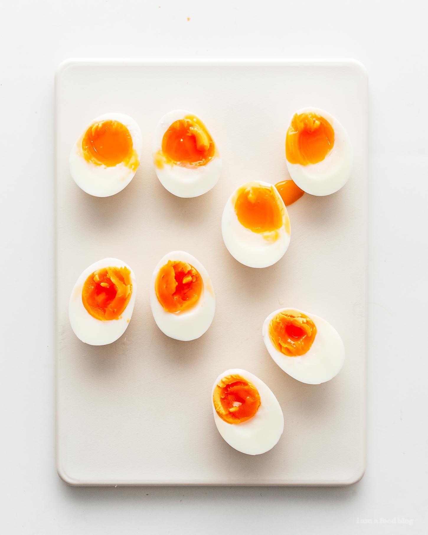 How To Make Jammy Soft Boiled Eggs Recipe I Am A Food Blog Recipe Boiled Egg Recipes Soft Boiled Eggs Soft Boiled Eggs Recipe