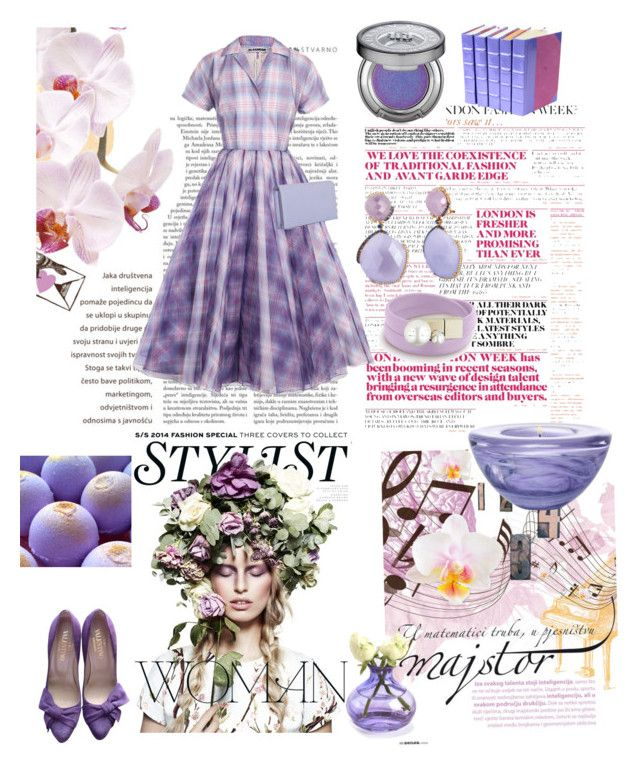 """Lavender style"" by inikisha on Polyvore featuring мода, KAROLINA, Jil Sander, Valentino, Urban Decay, Kosta Boda и Roksanda"