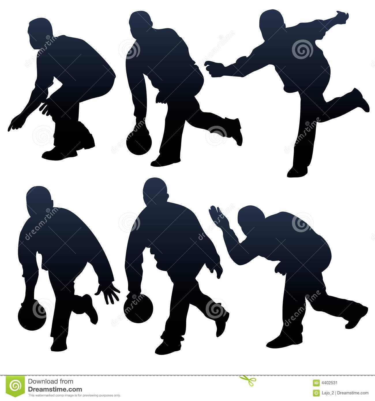 Bowling People Silhouettes Download From Over 58 Million
