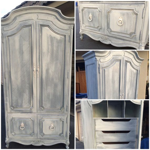 white wood wardrobe armoire shabby chic bedroom. Vintage French Provincial Armoire White Washed By SimonSaysSalvage Wood Wardrobe Shabby Chic Bedroom S