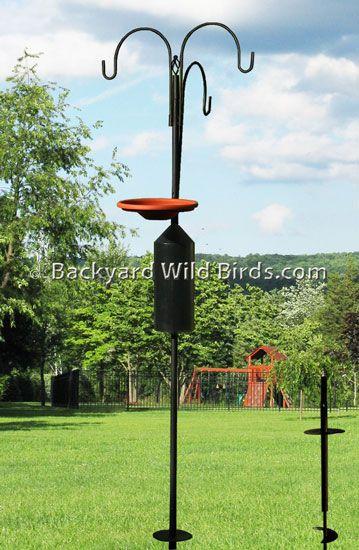 Bird Feeder Pole System S7 At Backyard Wild Birds Bird Feeder Poles Bird Feeders Wild Birds