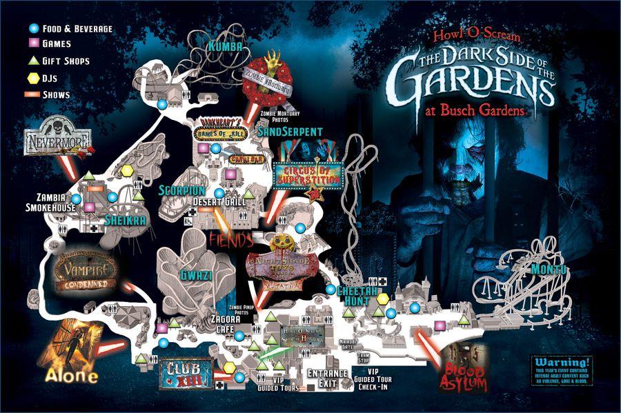4a9ad84c49201feaad16f8a9c737edd5 - Busch Gardens Williamsburg Howl O Scream Map