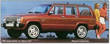 XJ Cherokee Wagoneer, 80s sportswear, and white stripe rubber.