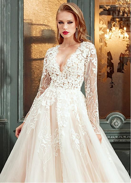 Pin by Fatma on wedding dresses | Pinterest | Lace applique, Wedding ...
