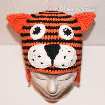 Tigermütze | Häkeln | Pinterest | Mütze häkeln, Mütze und Schals