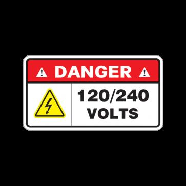 Danger 120 240 Volts 18626 Dangerous High Voltage Vinyl