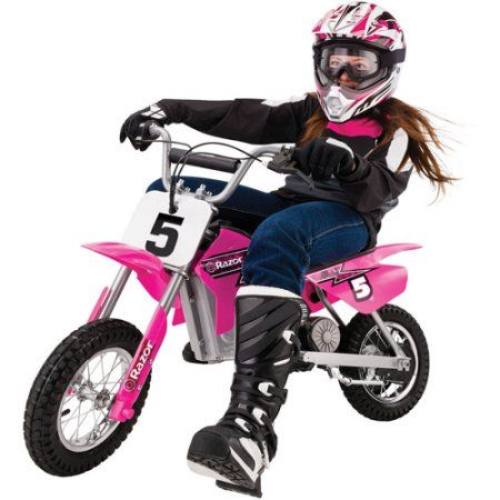 Razor Mx350 24v Dirt Rocket Electric Ride On Motocross Bike Pink Walmart Com Motocross Bikes Kids Motorcycle Motocross