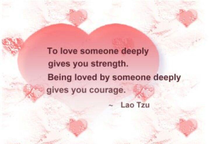 Love someone deeply