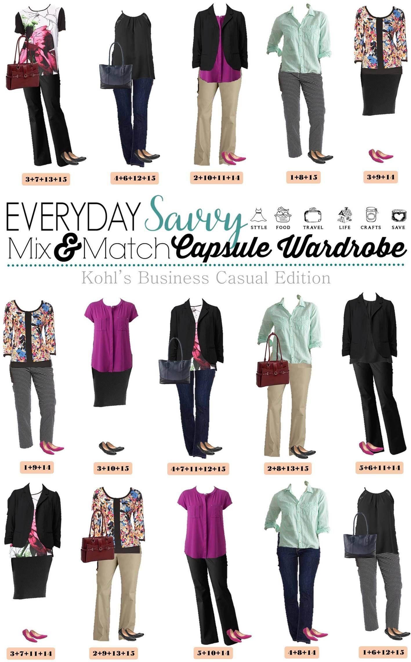 Kohls Business Casual Attire for Women - Capsule Wardrobe  Spring