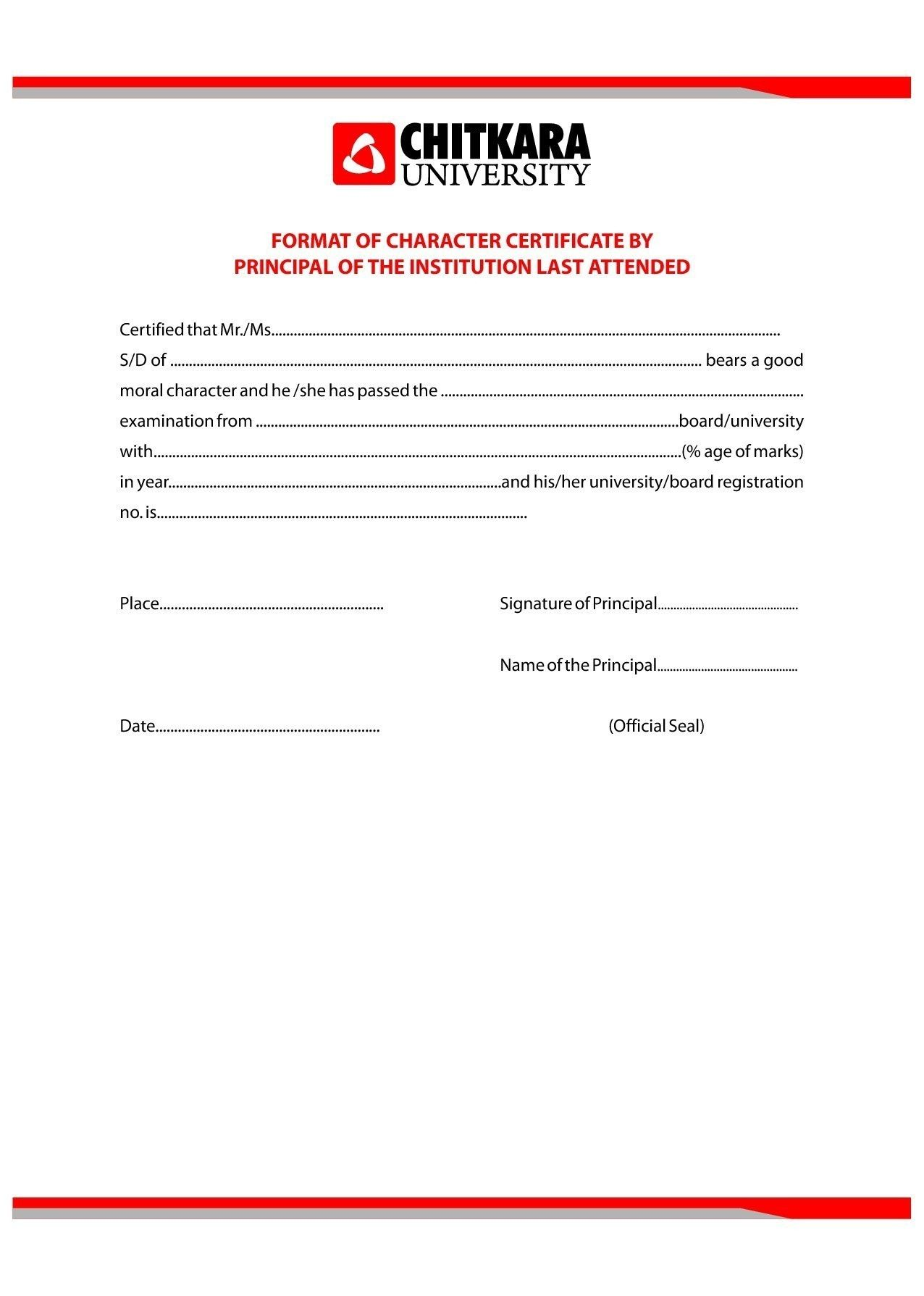 10 Character Certificate Template Free Gift Certificate