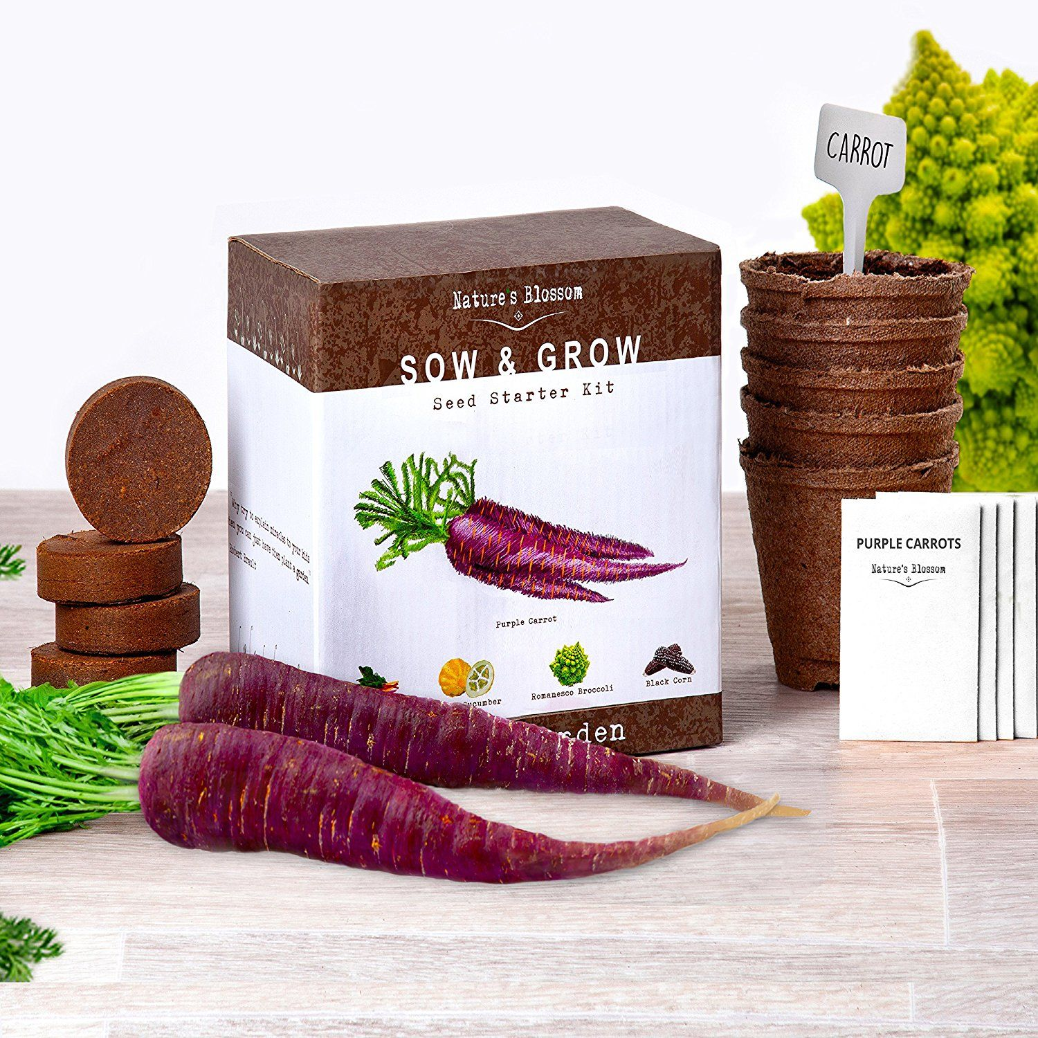 Grow 5 Unique Vegetables With Natureu0027s Blossom Veg Growing Kit. Cool Gift  Idea For Men, Women And Kids.