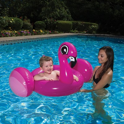 Pool Master 30 Flamingo Inflatable Baby 1 Person Rider Swimming Pool Float Pink Swimming Pool Floats Pool Time Fun Flamingo Pool Float