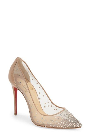 ea1639ffbe01 Crystal embellished shoes by Christian Louboutin for weddings